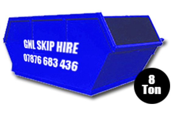 Large 8 Ton Skips for hire in Yorkshire
